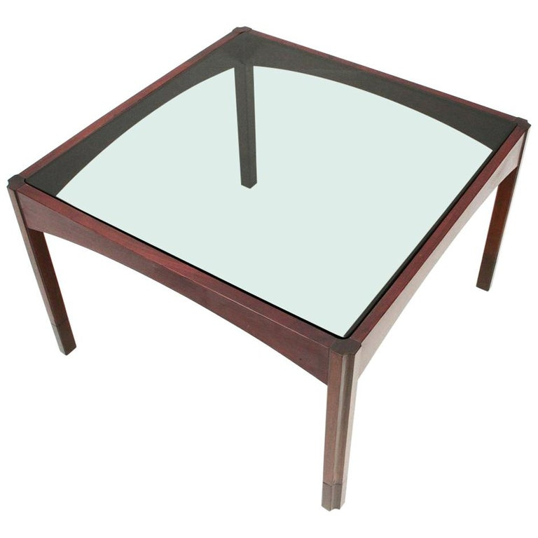 Square Coffee Table Glass Top.Italian Midcentury Square Coffee Table 1960s