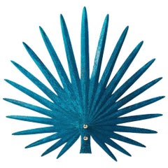 "Rosie Li ""Inez"" Sculptural Wall Light in Blue Salt Copper and Brass"