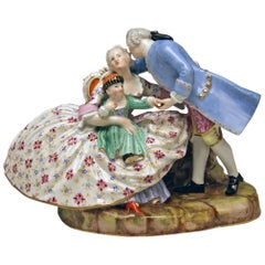 Meissen Figurines the Lucky Family Model 604 by Kaendler Made circa 1850
