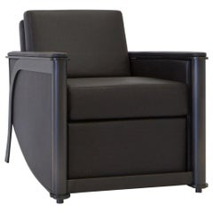 Constantine Club Chair with Leather Upholstered Back and Seat by Mark Zeff