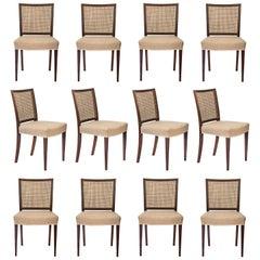 Ernst Kühn, Set of 12 Danish Caned Rosewood Side Chairs