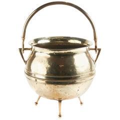 Antique Brass Coal Bucket, circa 1860