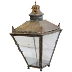 Early 20th Century English Copper Lantern