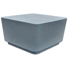 Cast Resin 'Block' Cocktail Table, Gray Stone Finish by Zachary A. Design