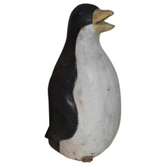 Early 20th Century Hand Carved and Painted Penguin