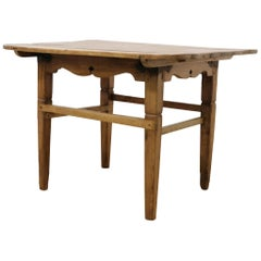 Rustic Pine Spanish Side Low Table, Late 19th Century