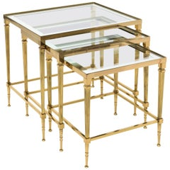Set of Brass Nesting Tables, circa 1970s