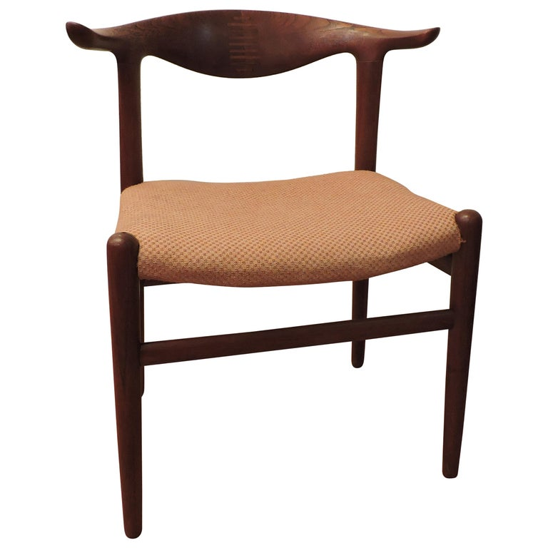 Hans Wegner Teak Cow Horn Chair Model JH 505 for Johannes Hansen