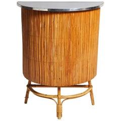 "Bamboo Rattan ""French Riviera"" Petite Bar, circa 1960"