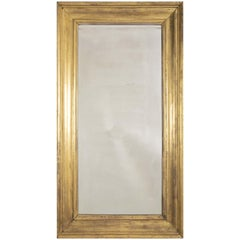 American 19th Century Mirror with Original Carved Giltwood Frame