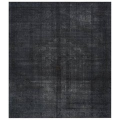 Distressed Overdyed Handwoven Persian Style Rug, 522