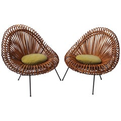 Pair of Rattan Chairs by Janine Abraham and Dirk Jan Rol