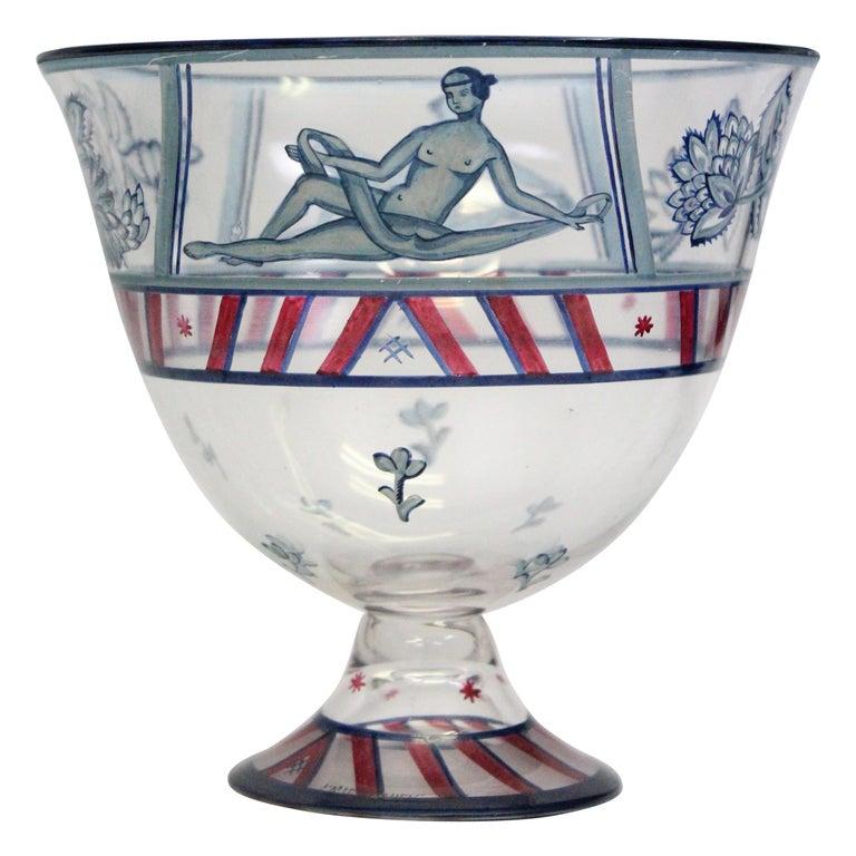 Josef Hoffmann/Vally Wieselthier/Wiener Werkstaette a Glass Centrepiece, 1917 For Sale
