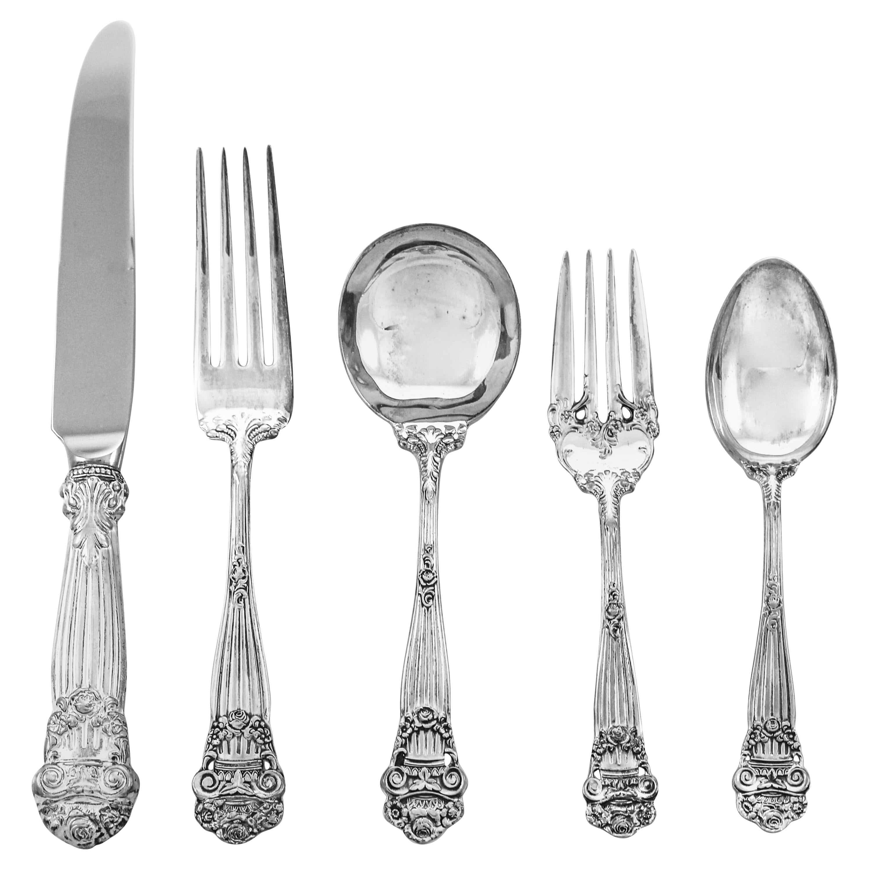 Georgian Sterling Flatware / Service for 12 '60 Pieces'