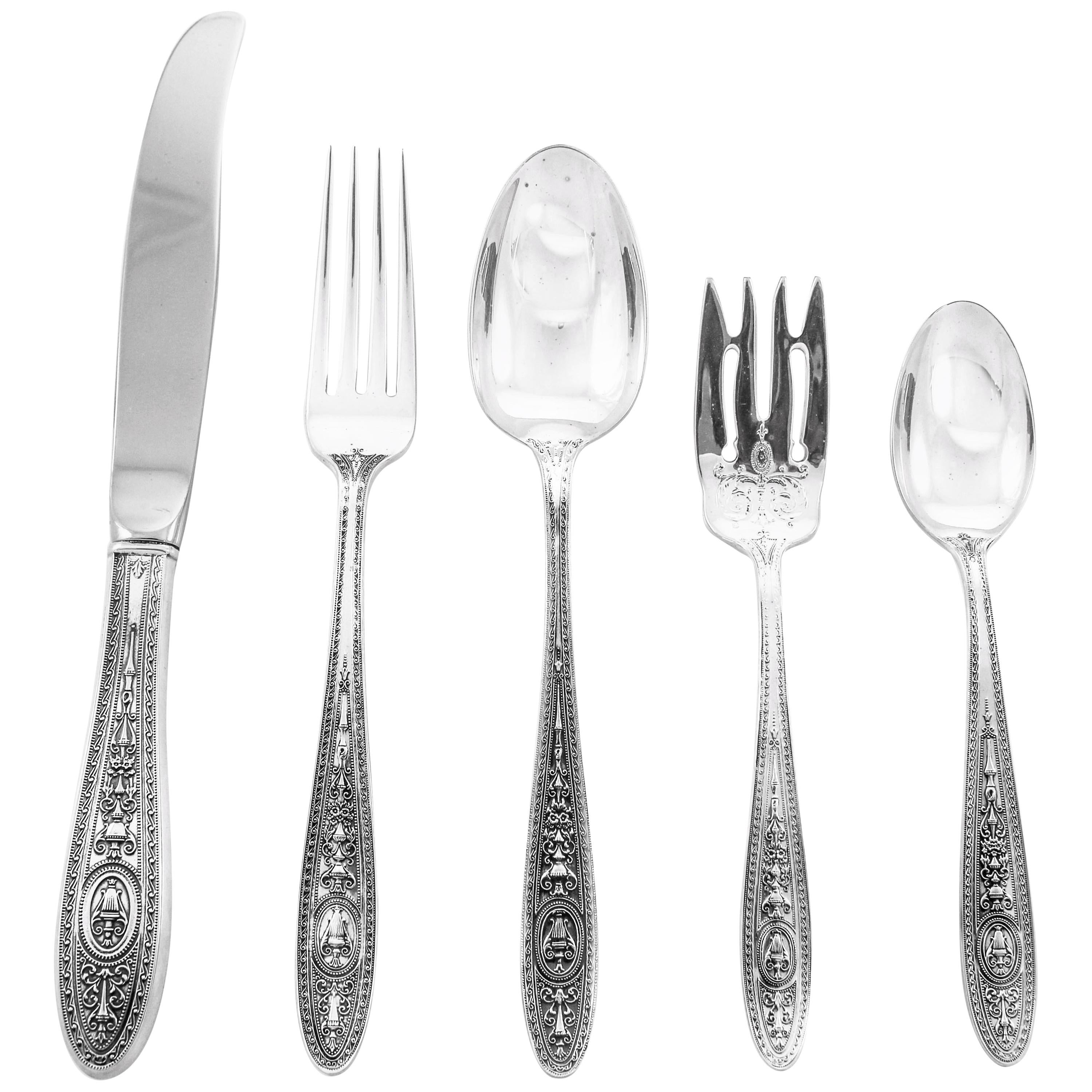 Sterling Wedgewood Flatware, Service for 16/80 Pieces