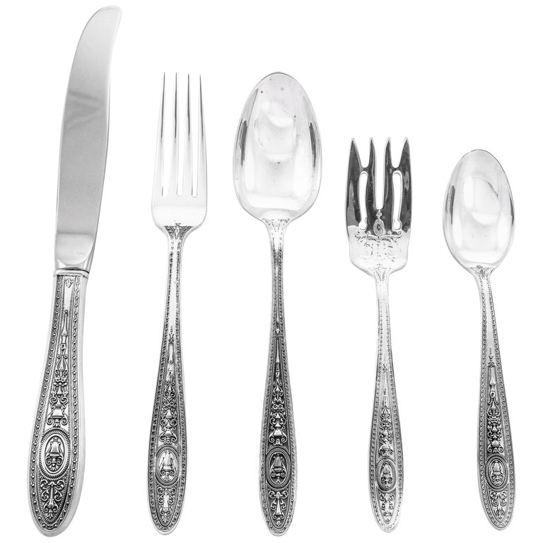 Sterling Wedgewood Flatware, Service for 16/80 Pieces For Sale