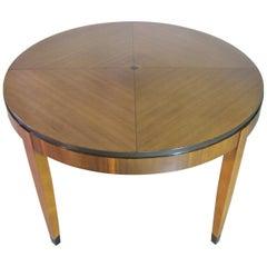 Mastercraft Art Deco / Postmodern Style Dining Table, Patterned Veneers