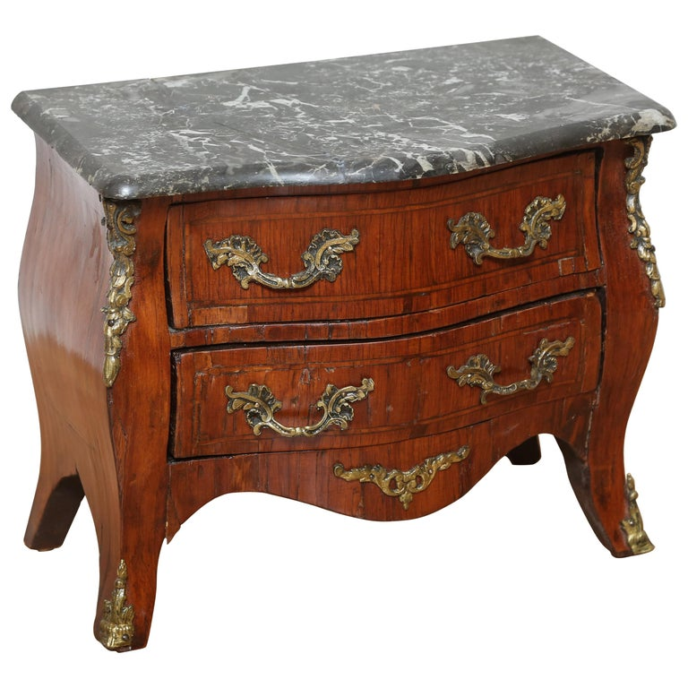 Miniature French Marble-Top Commode For Sale