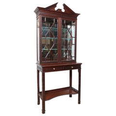 Antique English Chippendale Style Display Cabinet