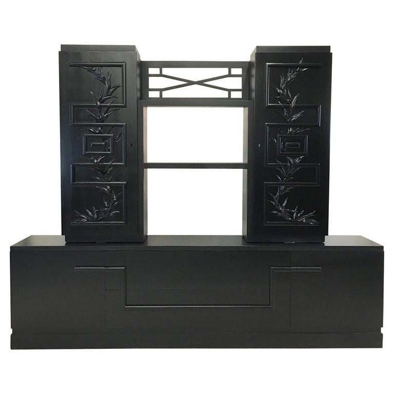 James Mont Console Cabinet For Sale