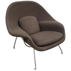 Saarinen for Knoll Womb Chair in Brown Boucle