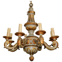 19th Century Continental Parcel-Gilt Chandelier