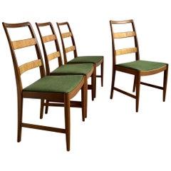 Midcentury Swedish Oak Chairs by Bertil Fridhagen for Bodafors, Set of 4, 1961