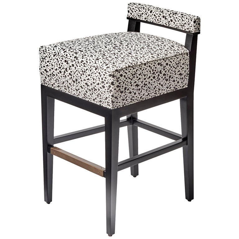Sensational Morgan Counter Height Stool With Back Support And Antique Brass Kick Plate Caraccident5 Cool Chair Designs And Ideas Caraccident5Info
