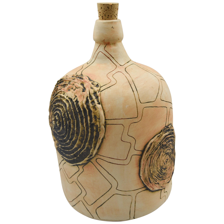 Mexican Demijohn Rustic Clay Mezcal Vessel Bottle Pottery Oaxaca Folk Art