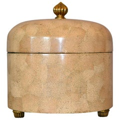 Decorative Maitland-Smith Crackled Eggshell and Brass Box