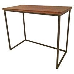Walnut Top Iron Table