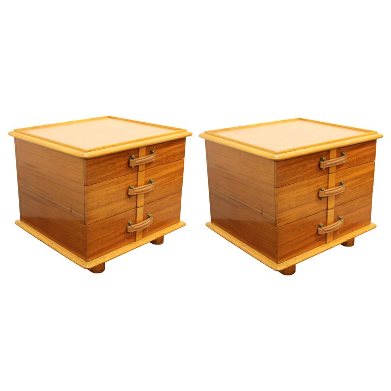 Paul Frankl for Johnson Furniture Modern 'Station Wagon' Nightstands For Sale