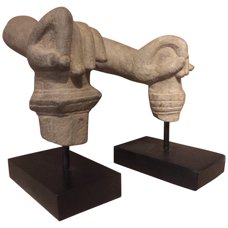 2 Khmer Stone Mudra Hands For Sale