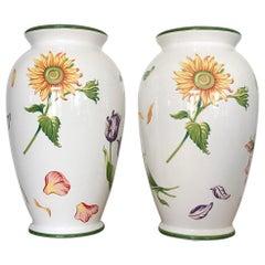 Tiffany & Company Blütenblätter Vasen, paar