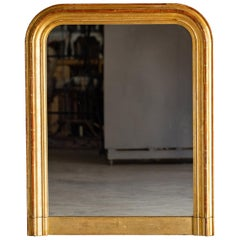 Louis Philppe Antique French Gold Mirror, circa 1885