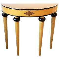 Art Deco Demilune Console Table, circa 1990s
