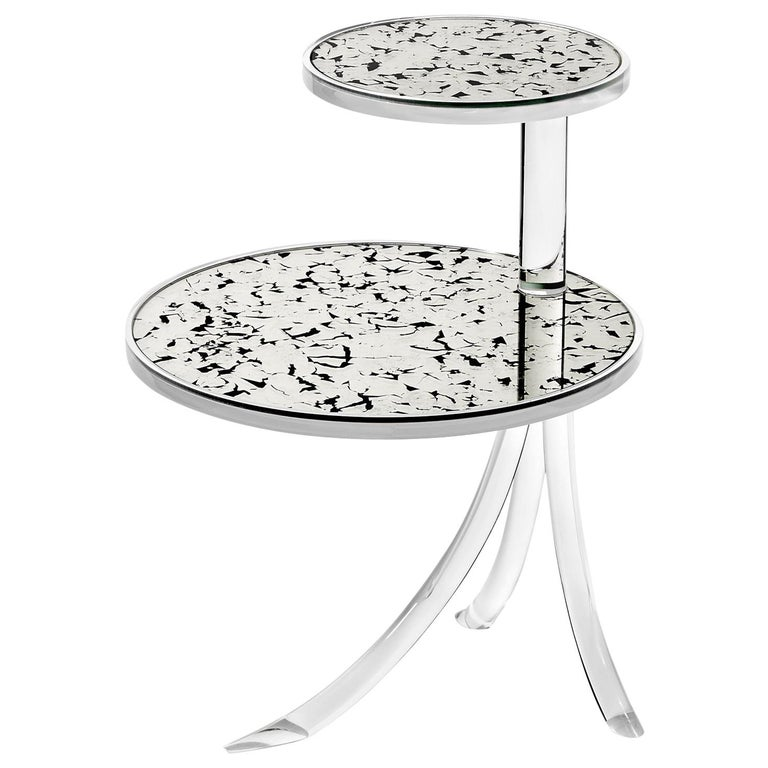 Archer Contemporary Acrylic Table For Sale
