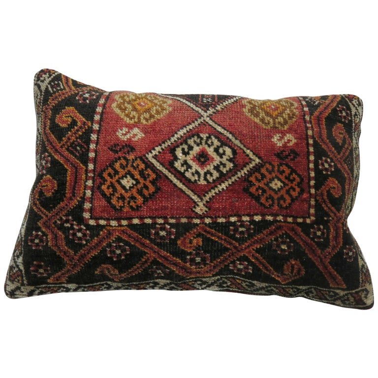 Anatolian Turkish Tribal Rug Pillow For Sale