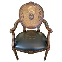 French Bergiere Chair by Theodore Alexander