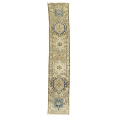 Narrow Vintage Persian Heriz Runner