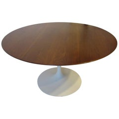 Eero Saarinen Walnut Tulip Dining Table for Knoll