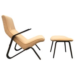 Eero Saarinen Grasshopper Chair and Ottoman