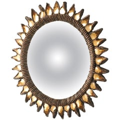 "Small ""Golden Thistle"" Mirror by Line Vautrin"