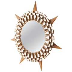 Glass Sunburst Mirrors