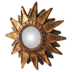 "Small ""Pointed Sun"" Mirror by Line Vautrin"
