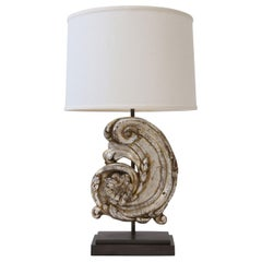Silver Gilt Custom Lamp