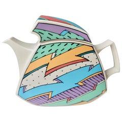 """1980s Dorothy Hafner Porcelain """"Flash"""" Teapot/Postmodern"""