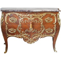Louis XV Style Marble-Top Commode