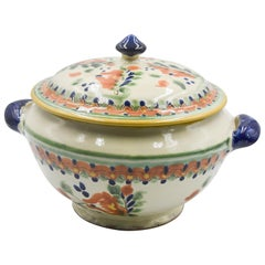 Talavera Serveware Ceramic Mexican Pottery Soup Tureen Traditional Colonial