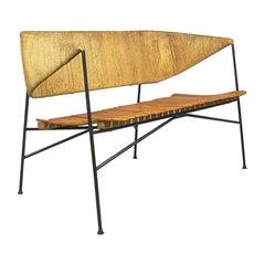 Modernist Settee by Arthur Umanoff for Shaver Howard & Raymor Loveseat Bench